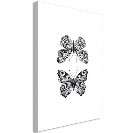 Quadro - Two Butterflies (1 Part) Vertical - Quadri e decorazioni