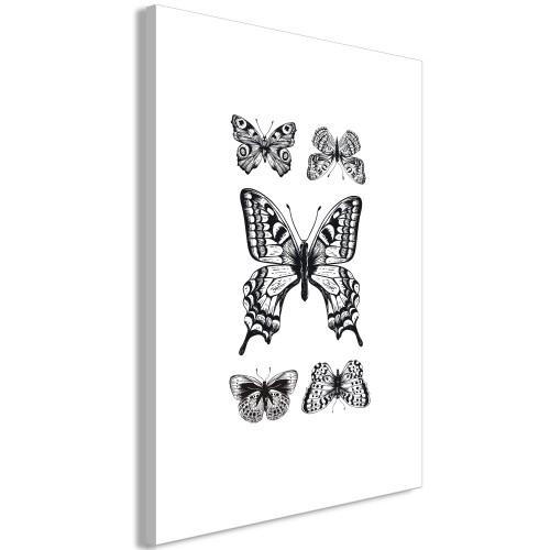 Quadro - Five Butterflies (1 Part) Vertical - Quadri e decorazioni