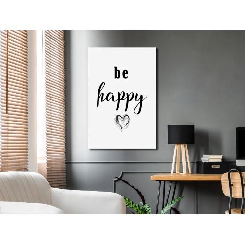 Quadro - Be Happy (1 Part) Vertical - Quadri e decorazioni