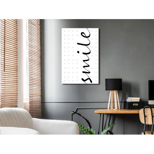 Quadro - Black and White: Smile (1 Part) Vertical - Quadri e decorazioni