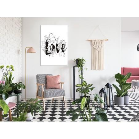 Quadro - Love With Flowers (1 Part) Vertical - Quadri e decorazioni