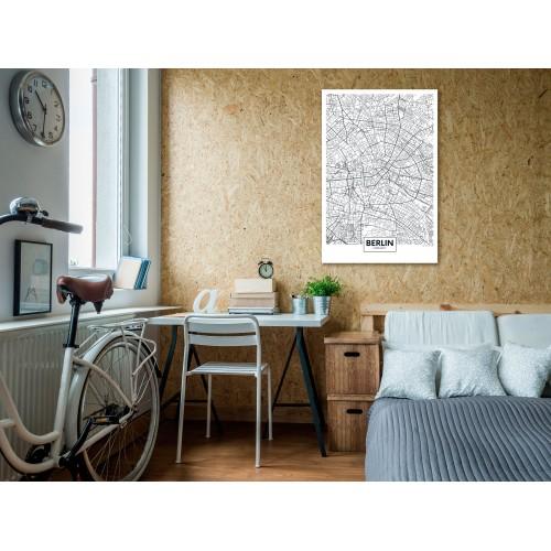 Quadro - Map of Berlin (1 Part) Vertical - Quadri e decorazioni
