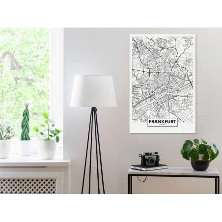 Quadro - Map of Frankfurt (1 Part) Vertical - Quadri e decorazioni