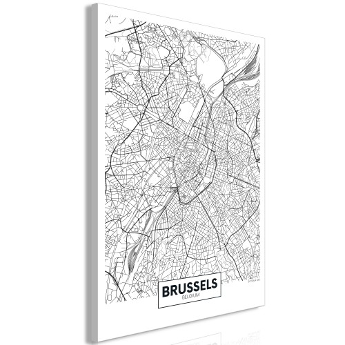 Quadro - Map of Brussels (1 Part) Vertical - Quadri e decorazioni