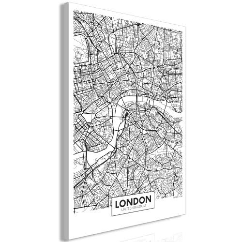 Quadro - Map of London (1 Part) Vertical - Quadri e decorazioni