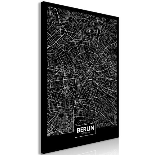 Quadro - Dark Map of Berlin (1 Part) Vertical - Quadri e decorazioni
