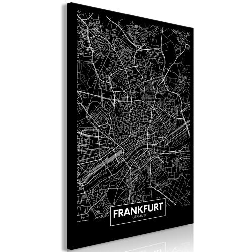 Quadro - Dark Map of Frankfurt (1 Part) Vertical - Quadri e decorazioni