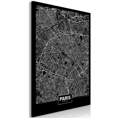 Quadro - Dark Map of Paris (1 Part) Vertical - Quadri e decorazioni