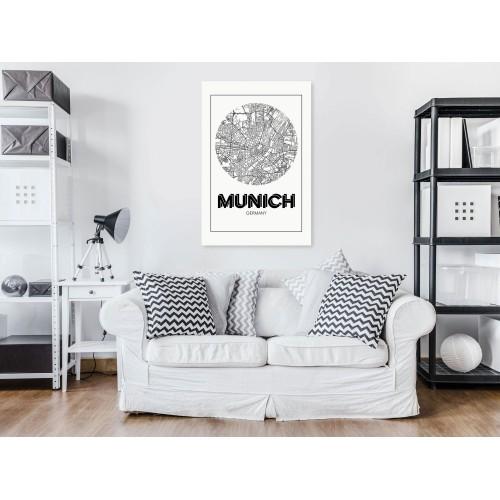 Quadro - Retro Munich (1 Part) Vertical - Quadri e decorazioni