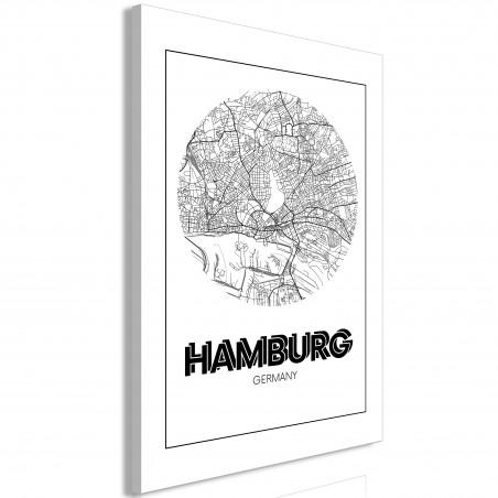 Quadro - Retro Hamburg (1 Part) Vertical - Quadri e decorazioni