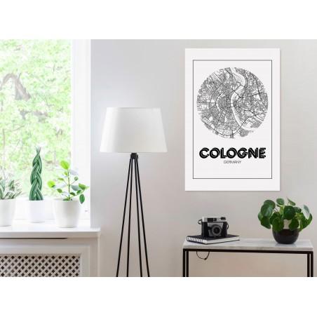 Quadro - Retro Cologne (1 Part) Vertical - Quadri e decorazioni