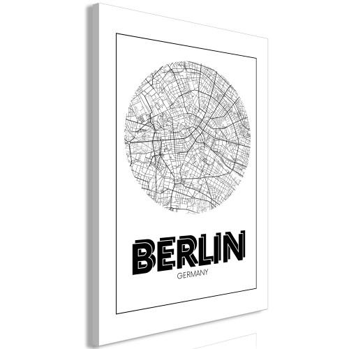 Quadro - Retro Berlin (1 Part) Vertical - Quadri e decorazioni