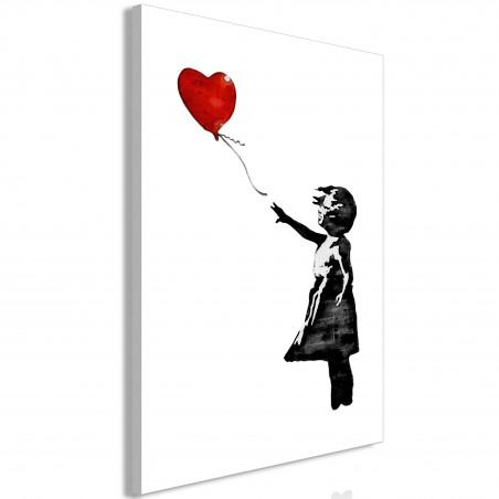 Quadro - Banksy: Girl with Balloon (1 Part) Vertical - Quadri e decorazioni