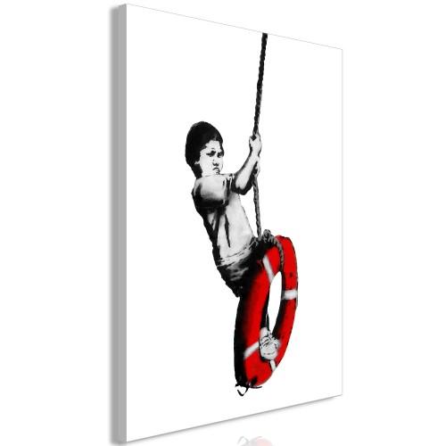 Quadro - Banksy: Boy on Rope (1 Part) Vertical - Quadri e decorazioni