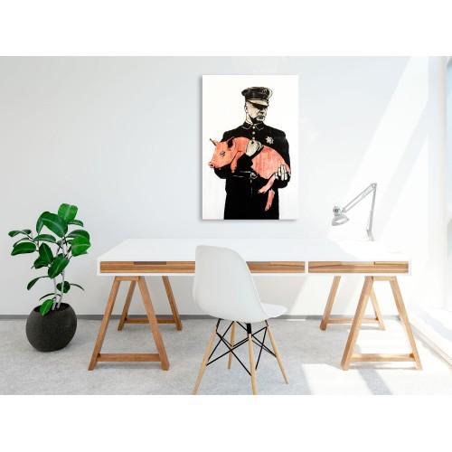 Quadro - Police Pig (1 Part) Vertical - Quadri e decorazioni