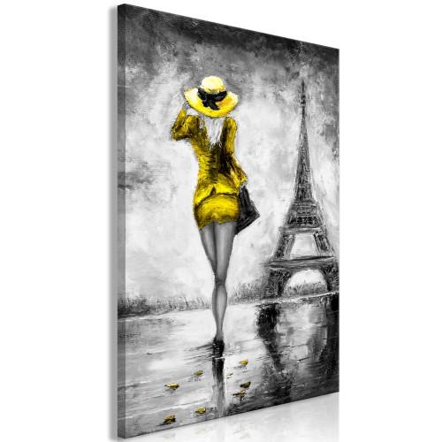 Quadro - Parisian Woman (1 Part) Vertical Yellow - Quadri e decorazioni