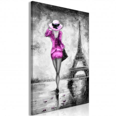 Quadro - Parisian Woman (1 Part) Vertical Pink - Quadri e decorazioni