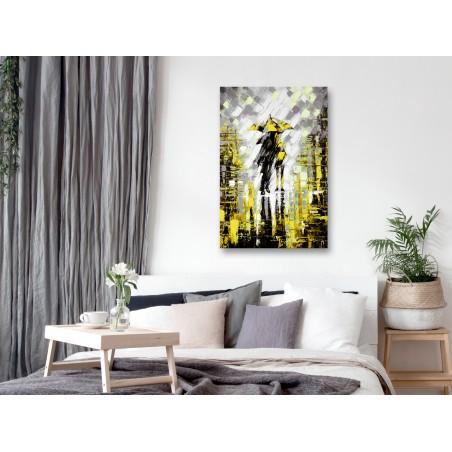 Quadro - Lovers in Colour (1 Part) Vertical Yellow - Quadri e decorazioni