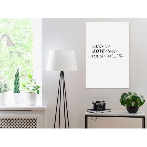 Quadro - Love Code (1 Part) Vertical - Quadri e decorazioni