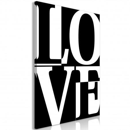 Quadro - Black and White Love (1 Part) Vertical - Quadri e decorazioni