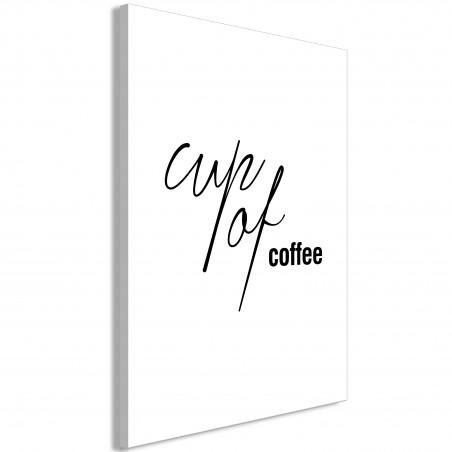 Quadro - Cup of Coffee (1 Part) Vertical - Quadri e decorazioni