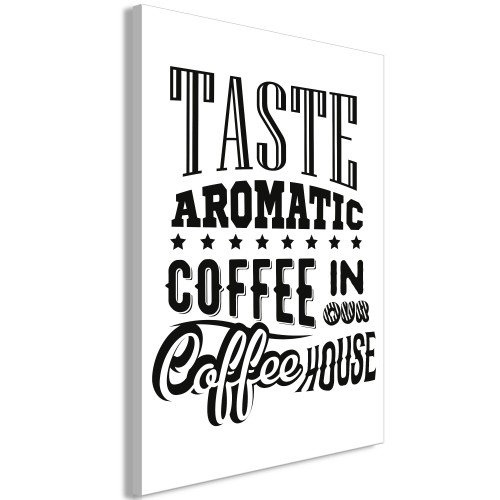 Quadro - Taste Aromatic Coffee in Our Coffee House (1 Part) Vertical - Quadri e decorazioni
