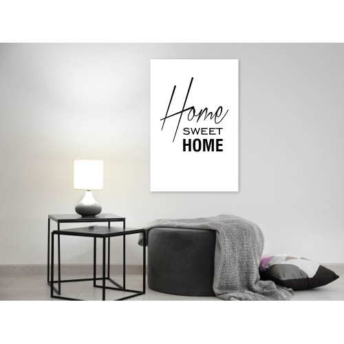 Quadro - Black and White: Home Sweet Home (1 Part) Vertical - Quadri e decorazioni