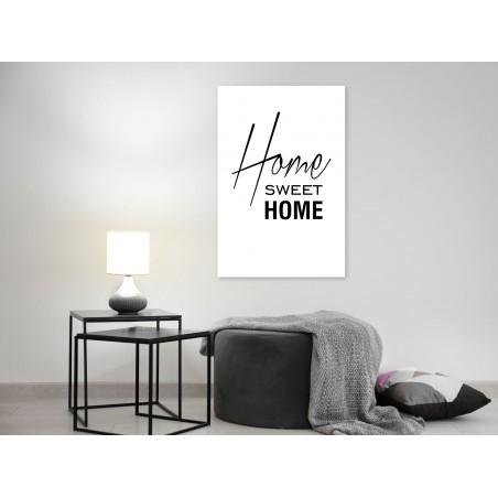 Quadro - Black and White: Home Sweet Home (1 Part) Vertical - Quadri e decorazioni