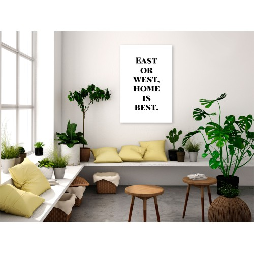 Quadro - Home Is Best (1 Part) Vertical - Quadri e decorazioni