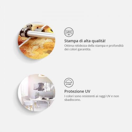 Quadro - Gold Home Is Best (1 Part) Vertical - Quadri e decorazioni