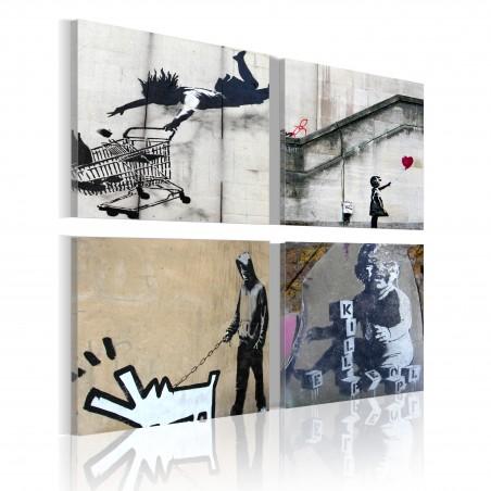 Quadro - Banksy: quattro idee creative - Quadri e decorazioni