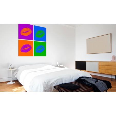 Quadro - Baci: Pop Art - Quadri e decorazioni