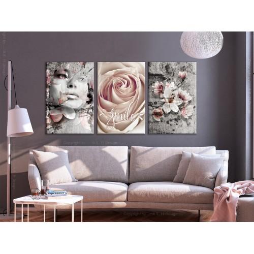 Quadro - Floral Smile (3 Parts) - Quadri e decorazioni