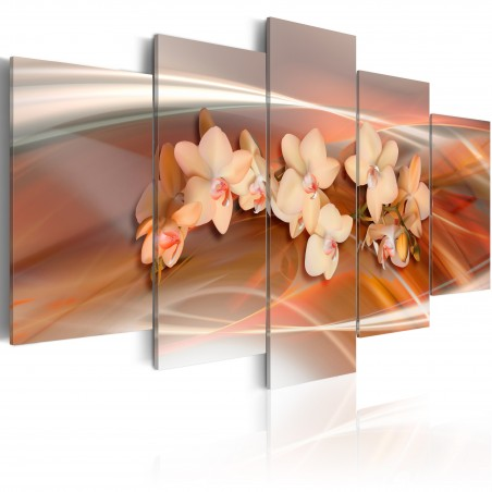 Quadro - Orchidea di calde tonalita' di grigio - Quadri e decorazioni