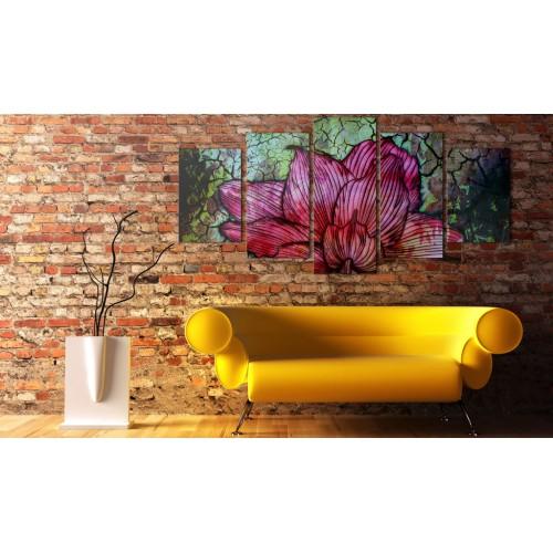 Quadro - Vetrata con motivo floreale - Quadri e decorazioni