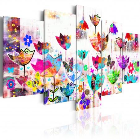 Quadro - Tulipani sotto la pioggia - Quadri e decorazioni