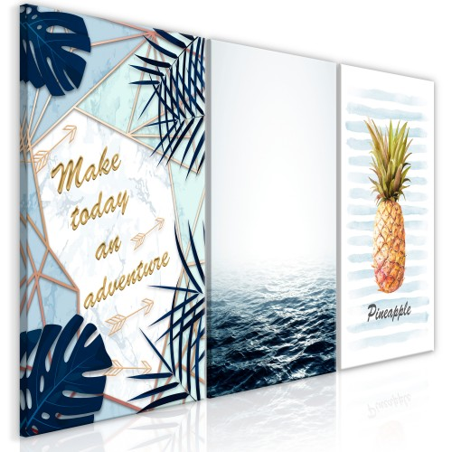 Quadro - Pineapple Quote (3 Parts) - Quadri e decorazioni