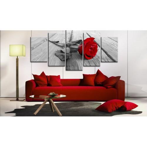 Quadro - Rosa su legno - Quadri e decorazioni