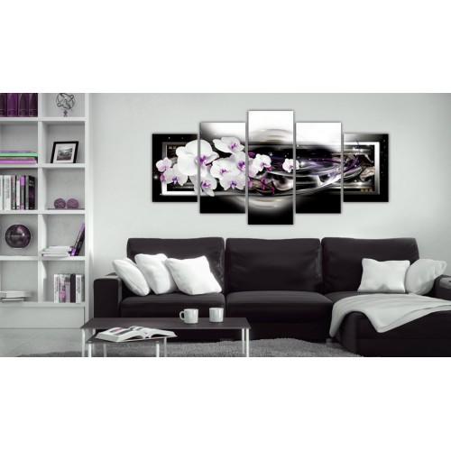 Quadro - Orchidee su sfondo nero - Quadri e decorazioni