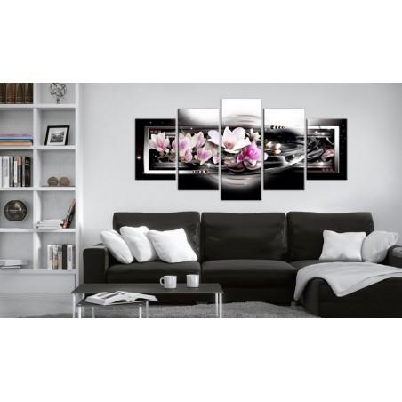Quadro - Magnolie su sfondo nero - Quadri e decorazioni
