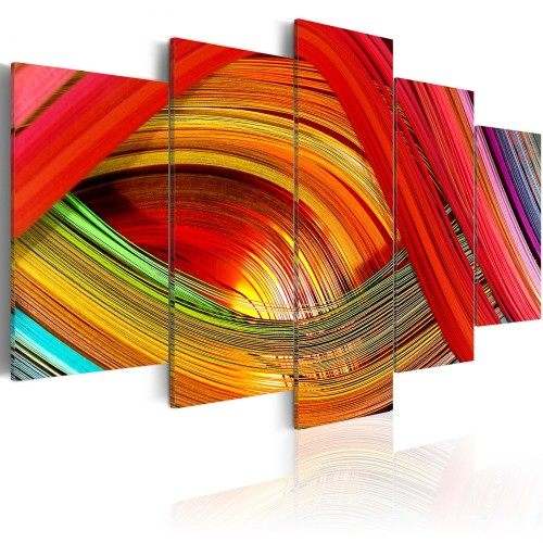 Quadro - Astrazione a strisce colorate - Quadri e decorazioni