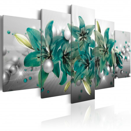 Quadro - Turquoise Bouquet - Quadri e decorazioni