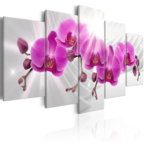 Quadro - Abstract Garden: Pink Orchids - Quadri e decorazioni