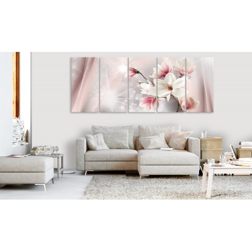 Quadro - Dazzling Magnolias (5 Parts) Narrow - Quadri e decorazioni