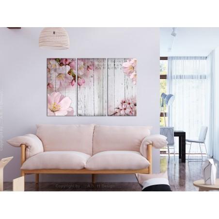 Quadro - Flowers on Boards (3 Parts) - Quadri e decorazioni