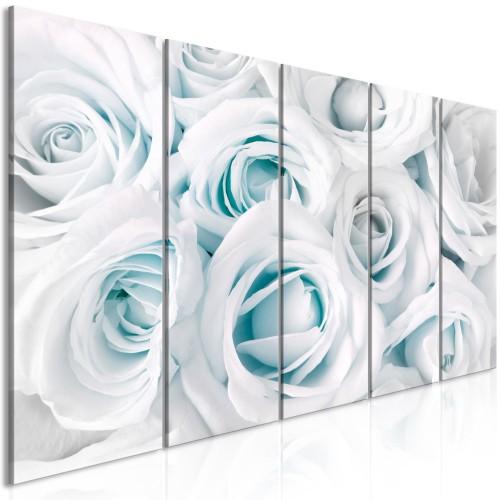 Quadro - Satin Rose (5 Parts) Narrow Turquoise - Quadri e decorazioni