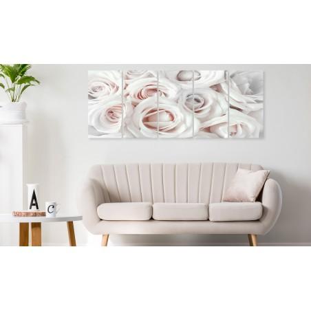 Quadro - Satin Rose (5 Parts) Narrow Pink - Quadri e decorazioni