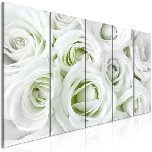 Quadro - Satin Rose (5 Parts) Narrow Green - Quadri e decorazioni