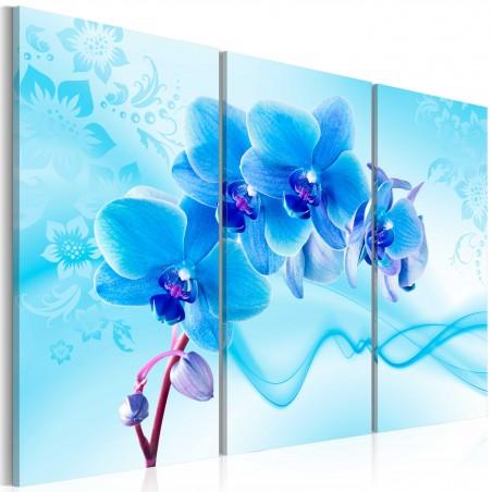 Quadro - Orchidea eterica - blu - Quadri e decorazioni