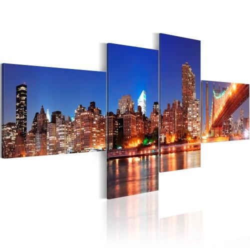 Quadro - Panorama notturno: New York - Quadri e decorazioni